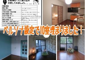 【多摩市2DK家賃7.5万】ストレスを感じず10部屋が埋まったのはペルソナ設定のおかげ!!