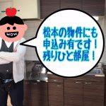 【松山&松本1R3万円】繁忙期の学生入居付けに失敗で稼働率75%!2018年には満室御礼を目指してます!
